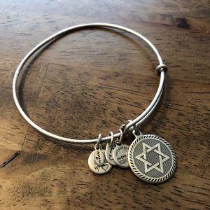 Alex and Ani Star of David charm bracelet
